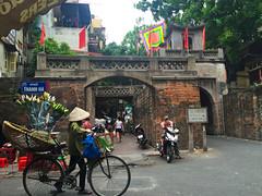 Ha Noi, Vietnam (Quench Your Eyes) Tags: citygate oldgate bicycle flowers hanoi honkim southeastasian vietnam vietnamese asia biketour capitalofvietnam southeastasia travel