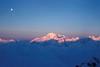 Haute Route (czpictures) Tags: hauteroute mountains ski touring switzerland glacier mountaineering alpinism 4000er sunrise montblanc sky moon cloud