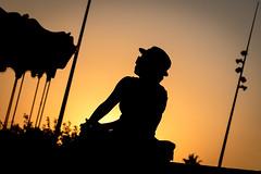 Sunrise Lover (NathalieSt) Tags: europe fz1000 france hrault lagrandemotte languedocroussillon lumix lumixfz1000 panasonic carrousel femme humain leverdesoleil manre merrygoround orange personne silhouette sunrise woman languedocroussillonmidipyrn languedocroussillonmidipyrnes fr