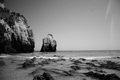 Incoming Tide (Andrew.King) Tags: blackandwhite monochrome rocks headlands beach coast sand water ocean sea landscape nikon d7100 lens flare