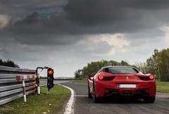 3...2...1... (Sawek Sulik) Tags: ferrari 458 458italia italia italian supercar automotive exotic track day trackday rosso corsa redlight poznan poland 2016 nikon slawek sulik