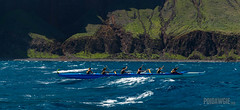 Hoe Wa'a Wana'o Ladies 1.jpg (poidawgie) Tags: 2016 canoes canon6d hawaii kauai napalichallenge outrigger racing