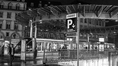 Cruising the street (OR_U) Tags: 2016 oru france strasbourg widescreen 169 tram night bw blackandwhite blackwhite schwarzweiss people street station monochrome hommedefer jamiroquai