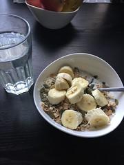 Frukost 19/9 (Atomeyes) Tags: mat lime vatten frukost fil msli pumpafrn banan