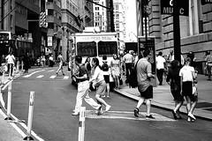 The Real Deal (OneMarie!) Tags: ny nyc wallstreet street calles ciudad city nikon d7100 bw bn blancoynegro people gente crowd walking turistas newyork