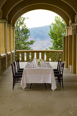 Dining in style (cdnfish) Tags: kelowna kelownabc okanagan bc britishcolumbia canada sony sonya7m2 a7m2 arch piller table dine style exploring missionhills missionhillswinery