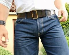 Cb01 (armybelt007) Tags: leatherbelt leatheranddenim leatherandjeans wideleatherbelt widebelt beltfetish beltinjeans beltanddenim beltandjeans armybelt militarybelt malebutt crotch belt