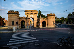 Porta Saragozza. Bologna (Choo_Choo_train) Tags: bologna italy tumblr travel fuji xt1 sunset road city crossroad crosswalk
