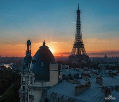 Parisian Sunrise (brenac photography) Tags: brenac d810 europe france nikond810 brenacphotography nikon sigma paris ledefrance fr hdr oloneo toureiffel sunrise cityscape dawn