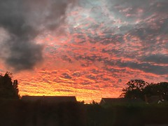 20160927_Knowle Sky is on Fire (Damien Walmsley) Tags: fire window sky clouds sunset night