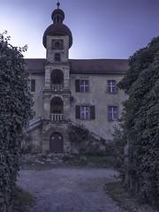 the castle (Florian Grundstein) Tags: castle muenchshofen lostplaces vergesseneorte verlassen verfall upperpalatinate schloss eingang treppenaufgang turm abend sonnenuntergang mft olympus pro zuiko grundstein florian