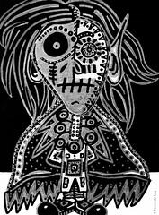 Cor de monstre 02 (Fernando Laq) Tags: monster monstruo monstre dibujo dibuix bn grises