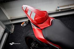 Yamaha R6 Satin metallic red full wrap (DUP_Automotive) Tags: monsterwraps wrap wrapped wrapping bike bikewrap motorbike yamaha r6 hampshire southampton 3m bikewraps paintisdead