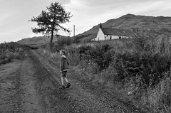 Evening Walk from Inversnaid Barracks (brightondj - getting the most from a cheap compact) Tags: secondwalk inversnaid scotland trossachs rspb inversnaidbarracks child bw inversnaidgarrison summer2016 holiday summerholiday uk britain ukholiday