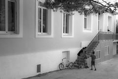 summer years (kyriosmanos) Tags: kids playing school ithaca greece black white nostalgic fujifilm