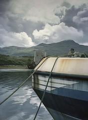 The sky over Skye (Kevin J Allan) Tags: camerafujifilmga645zi filmkodakektar filmdeveloperfujihuntxpress homedeveloped kyleakin scotland boat harbour