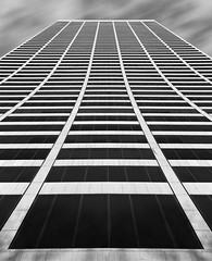 WR Grace Building NYC (wowography.com) Tags: nyc newyorkcity light shadow sky bw usa ny lines vertical