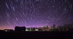 Star Trails Over 'The Good Life' alpaca farm (paininthelens) Tags: views100