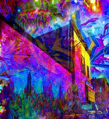 Girard Ave (brillianthues) Tags: city art philadelphia collage digital photography colorful vivid awardtree vividimagionation