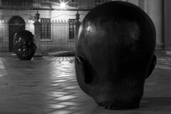 pamplona (www.jlosada.com and @jorge_losada on Instagram) Tags: baby night noche installation heads nocturna cabezas nio pamplona irua instalacin antoniolpez jorgelosada