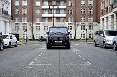 Black Box. (ImZaidHamid) Tags: black london wagon mercedes benz nikon g parking hilton filter 55 mayfair murdered g55 amg residents polarised gwagon polarising 18105mm worldcars nikonflickraward d5100