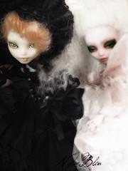 Plume et Opaline (NylonBleu) Tags: monster high ooak yang custom yin mh repaint nylonbleu