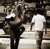 Opposites Attract (Professor Bop) Tags: street nyc newyorkcity blackandwhite bw monochrome manhattan mosca canonpowershots3is drjazz professorbop