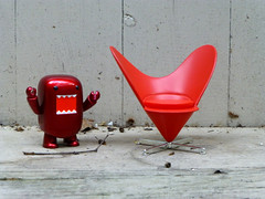 """I heart this chair!"" (The Dolly Mama) Tags: red chair heart valentine domo shout"