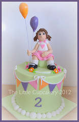 Ashlynne's Cake (Klaire with a Cake) Tags: girl cake balloons little tlc thelittlecupcakery klairescupcakes