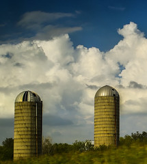 silo (Zagros.os) Tags: sky house green clouds farm silo fields