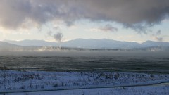 Lake Champlain and the Adirondack Mountains (wxkeith) Tags: winter usa lake snow mountains cold ice water clouds frozen vermont charlotte adirondacks steam northamerica lakechamplain chittendencounty