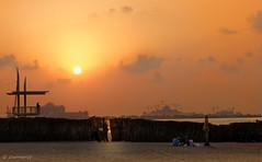 Corniche Sunset (Charn High ISO Low IQ) Tags: sunset orange canon eos dusk uae abudhabi corniche 600d