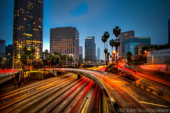 morning traffic & fog ( In 2 Making Images | L.A.) Tags: california longexposure motion cali downtownla hdr losangelesskyline digitalphotography foggymorning ilovela photomatix sunriselight creativephotography hdrphotography 365project canoneosdigitalslr discoverlosangeles rebelt2i albertvalles beautifulpicturesandcolorsoflosangeles