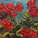 Geraniums, oil, Nancy Brossard
