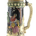 3015. Antique German 2 1/2 Liter Majolica Stein