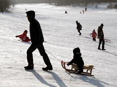 Nochmal! (onnola) Tags: park family schnee winter sun snow berlin germany children fun deutschland parents coast familie kinder sled sleigh volkspark rodeln sonne luge sledge schlitten neukölln eltern spas hasenheide vergnügen volksparkhasenheide
