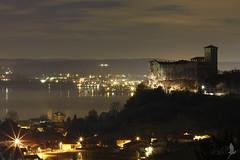 Stelle angeresi [Explored] (_milo_) Tags: italy lake night canon stars eos italia 50 castello notte rocca lagomaggiore stelle angera borromeo 60d