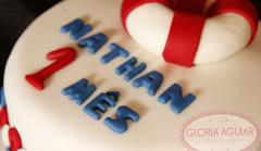 Bolo Marinheiro detalhes (Gloria Aguiar Cake Designer) Tags: azul rj vermelho bebê bolo menino marinheiro docedeleite pastaamericana gloriaaguiar