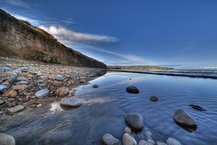 Robin Hood's Bay (inreflection) Tags: blue sea seascape nature water bay seaside nikon paradise day nef cove yorkshire wideangle clear smuggler northyorkshire robinhoodsbay sigma1224 stonesinwater nikoncapture nikondslr yorkshirelandscape nikond600 sigma1224f4556mkiidghsm