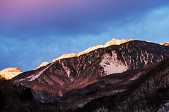 Chasing Light (arcreyes [-ratamahatta-]) Tags: winter sunset snow mountains japan backlight nagano okuhida 2013 shinhotaka