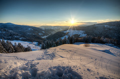 HDR Hasenhorn #1 (Michael-Herrmann) Tags: winter sunset sun snow black cold ice forest high nikon dynamic tripod melted range schwarzwald hdr exposures todtnau sdschwarzwald hasenhorn d5100 dtownmitsch