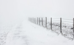 13th February 2013 080 (aneyeforvision) Tags: road new uk winter white snow wales fence landscape wire scenery united kingdom scene explore snowing welsh february common barbed whiteout tredegar gelligaer 2013 pontlottyn