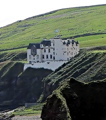 Dunbeath Castle, Caithness, Scotland, UK. Close Up