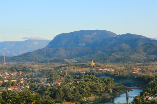 Town of Luang Prabang Laos in Afternoon Light (UNESCO World Heritage Site)