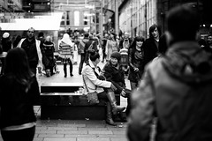 A Blether (stephen cosh) Tags: life street city people blackandwhite bw sepia mono scotland town glasgow candid streetphotography rangefinder reallife humancondition blackandwhitephotos 50mmsummilux blackwhitephotos leicam9 stephencosh leicammonochrom leicamm