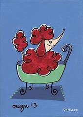ONYN-00676k (ONYN Paintings) Tags: uk england urban dog get london art love water smile wall illustration painting puppy fun bathroom shower happy graphicdesign bath funny humorous folkart outsiderart heart graphic unitedkingdom sale folk outsider originalart contemporaryart contemporary originalpainting modernart character fineart humor wallart humour pop east canvas urbanart popart wash gift poodle license buy present rug british sell creature britian whimsical eastlondon licensing whimsicalart canvasart artinabag characterart onyn wwwonyncom onyncom onynart