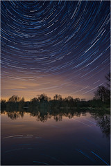 Star Trails Over Cotswold Water Park (Chris Beard - Images) Tags: uk lightpainting night stars landscape wiltshire startrails cotswoldwaterpark lowermoorfarm