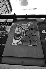 UWP x Pnub (damonabnormal) Tags: street city urban blackandwhite bw streetart philadelphia graffiti nikon sticker stickerart stickers streetphotography urbanart pa graff february phl urbanite uwp citystickers underwaterpirates 2013 the215 d7000 pnub