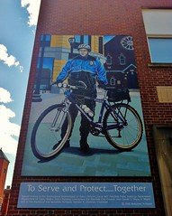 To Serve And Protect..Together (ArtFan70) Tags: usa art bike bicycle america ma mural unitedstates massachusetts police cop blake greenfield policestation policeman tobin sergeant williamblake policeofficer donnelly policedepartment toserveandprotect bicyclecop terrencedonnelly policesergeant jaytobin toserveandprotecttogether sergeantterrencedonnelly sergeantdonnelly williamfblake dunhammall