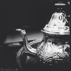 The Moroccan (Laithmatic) Tags: blackandwhite bw tea calm teapot moment tone bnw moroccan bwbeauty bwlover